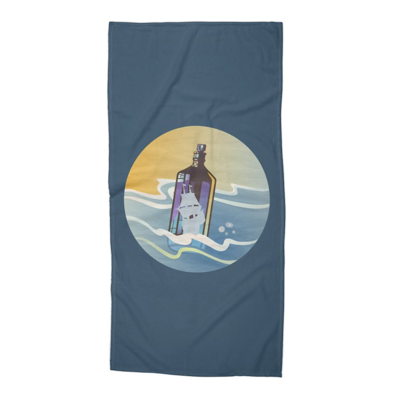 Ghost Ship Accessories Beach Towel by Patricia Howitt's Artist Shop