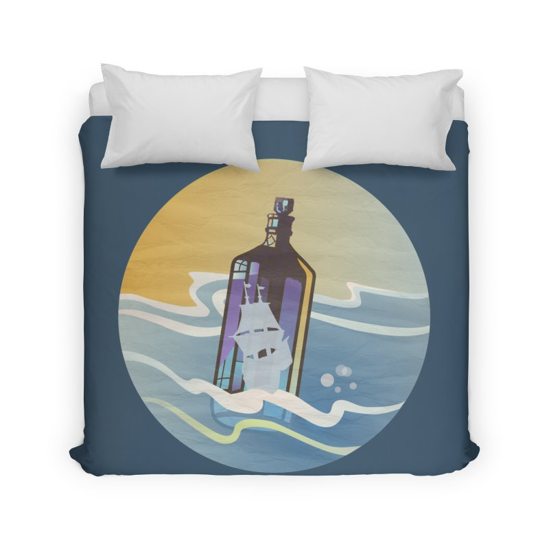 Ghost Ship Home Duvet by Patricia Howitt's Artist Shop
