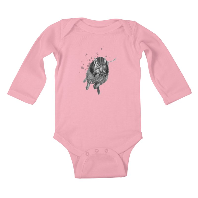 Don't Mess With Me! Kids Baby Longsleeve Bodysuit by Patricia Howitt's Artist Shop