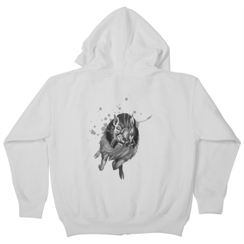 Don't Mess With Me! Kids Zip-Up Hoody by Patricia Howitt's Artist Shop