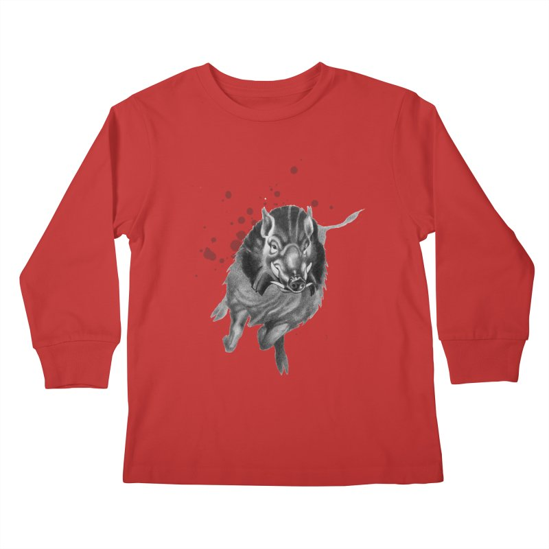 Don't Mess With Me! Kids Longsleeve T-Shirt by Patricia Howitt's Artist Shop
