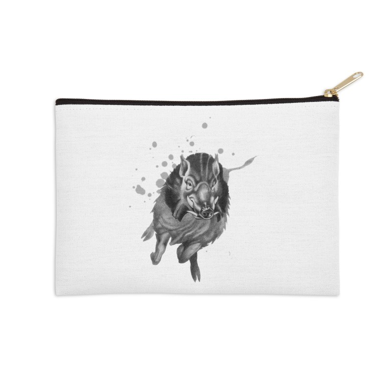 Don't Mess With Me! Accessories Zip Pouch by Patricia Howitt's Artist Shop
