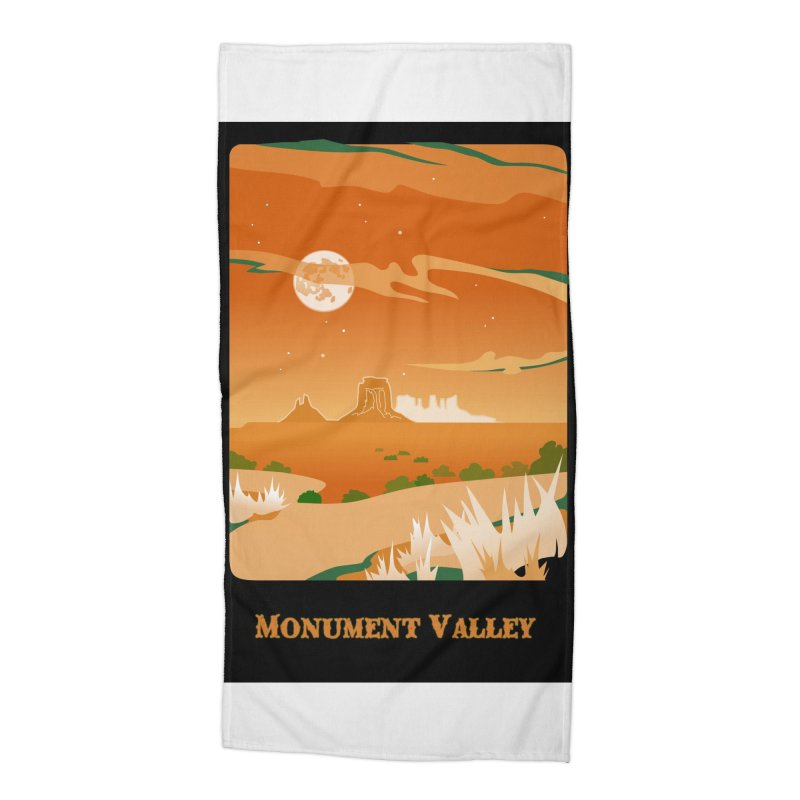 Monument Moon Accessories Beach Towel by Patricia Howitt's Artist Shop