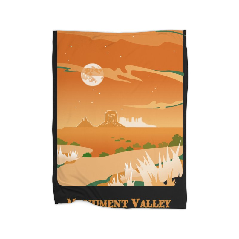 Monument Moon Home Blanket by Patricia Howitt's Artist Shop