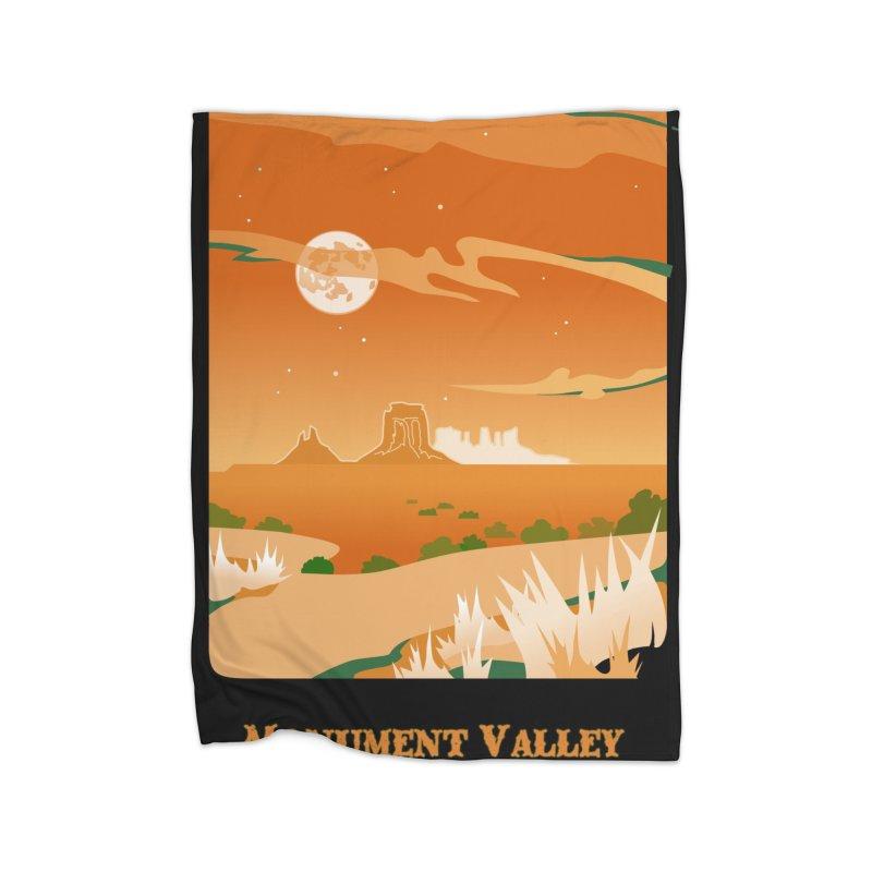 Monument Moon Home Fleece Blanket Blanket by Patricia Howitt's Artist Shop
