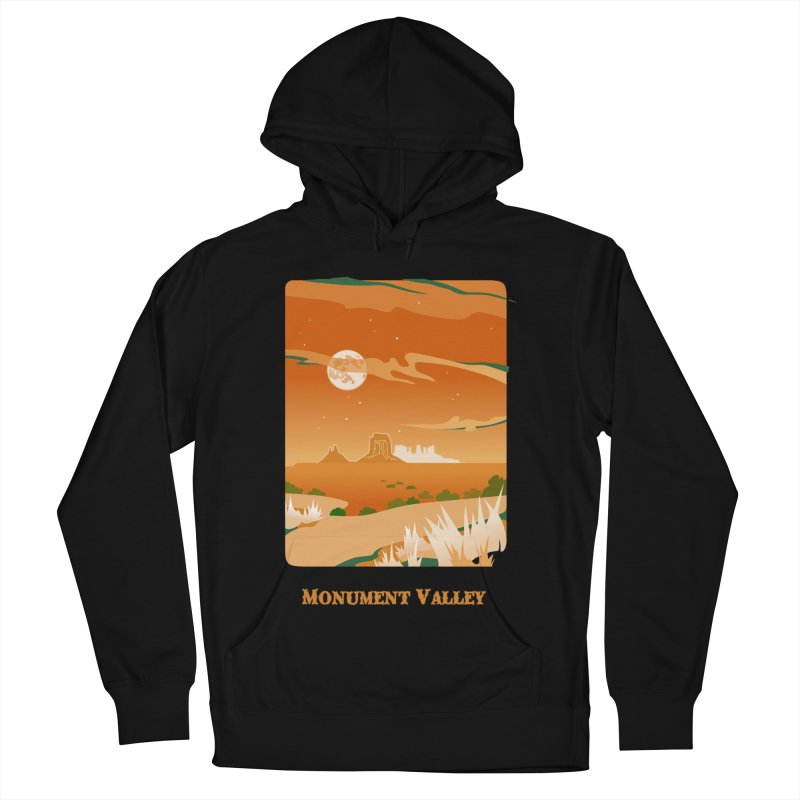 Monument Moon Women's French Terry Pullover Hoody by Patricia Howitt's Artist Shop