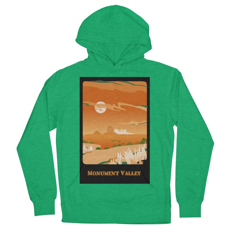 Monument Moon Men's French Terry Pullover Hoody by Patricia Howitt's Artist Shop