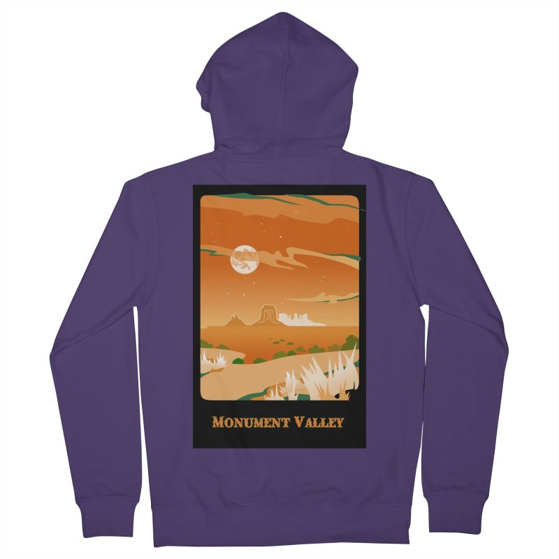 Monument Moon Women's French Terry Zip-Up Hoody by Patricia Howitt's Artist Shop