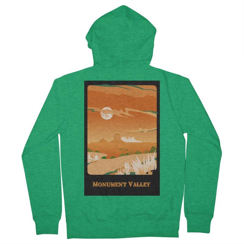 Monument Moon Men's Zip-Up Hoody by Patricia Howitt's Artist Shop