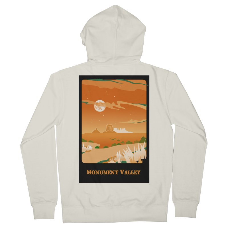 Monument Moon Men's French Terry Zip-Up Hoody by Patricia Howitt's Artist Shop