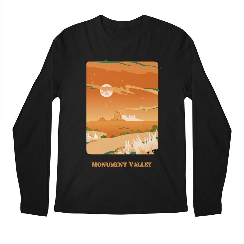 Monument Moon Men's Regular Longsleeve T-Shirt by Patricia Howitt's Artist Shop