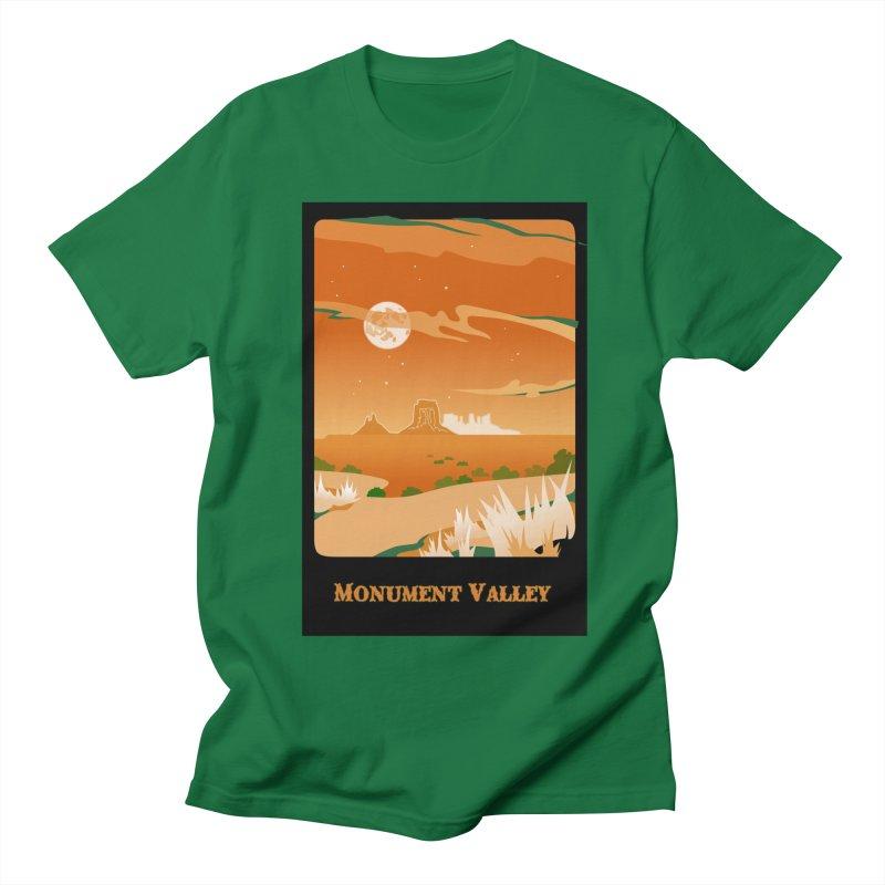 Monument Moon Men's T-shirt by Patricia Howitt's Artist Shop