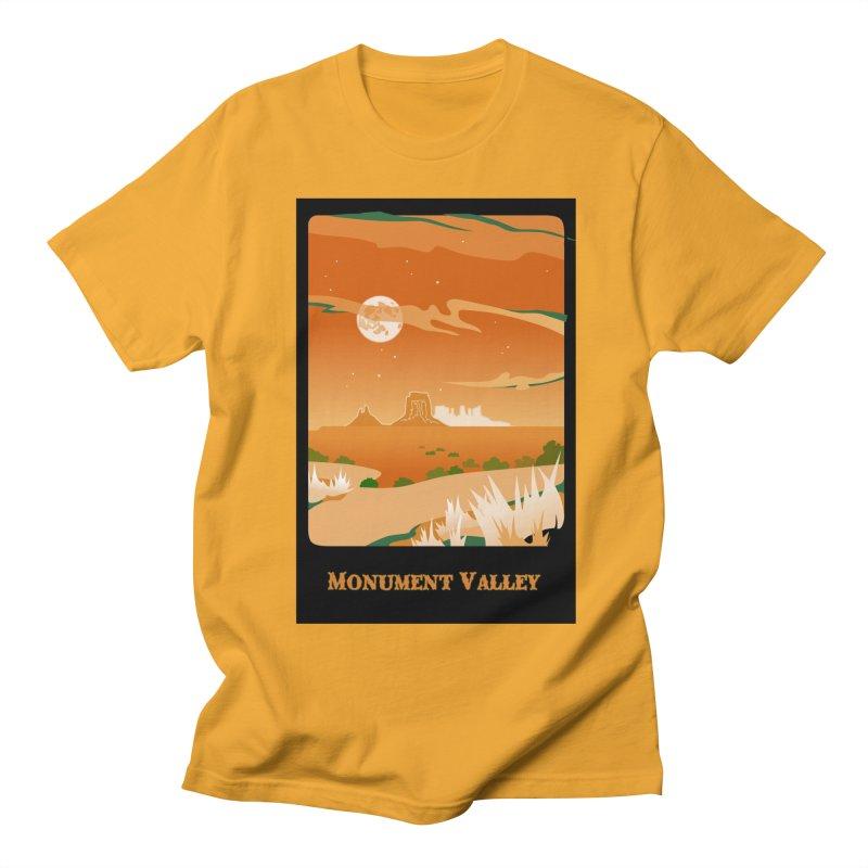 Monument Moon Men's Regular T-Shirt by Patricia Howitt's Artist Shop