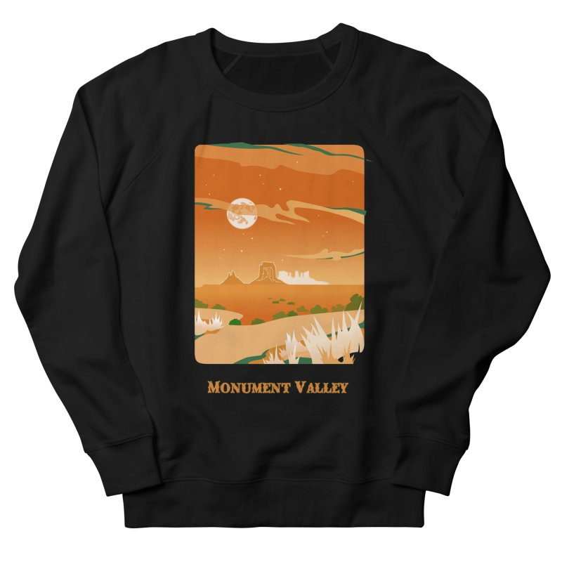 Monument Moon Women's French Terry Sweatshirt by Patricia Howitt's Artist Shop