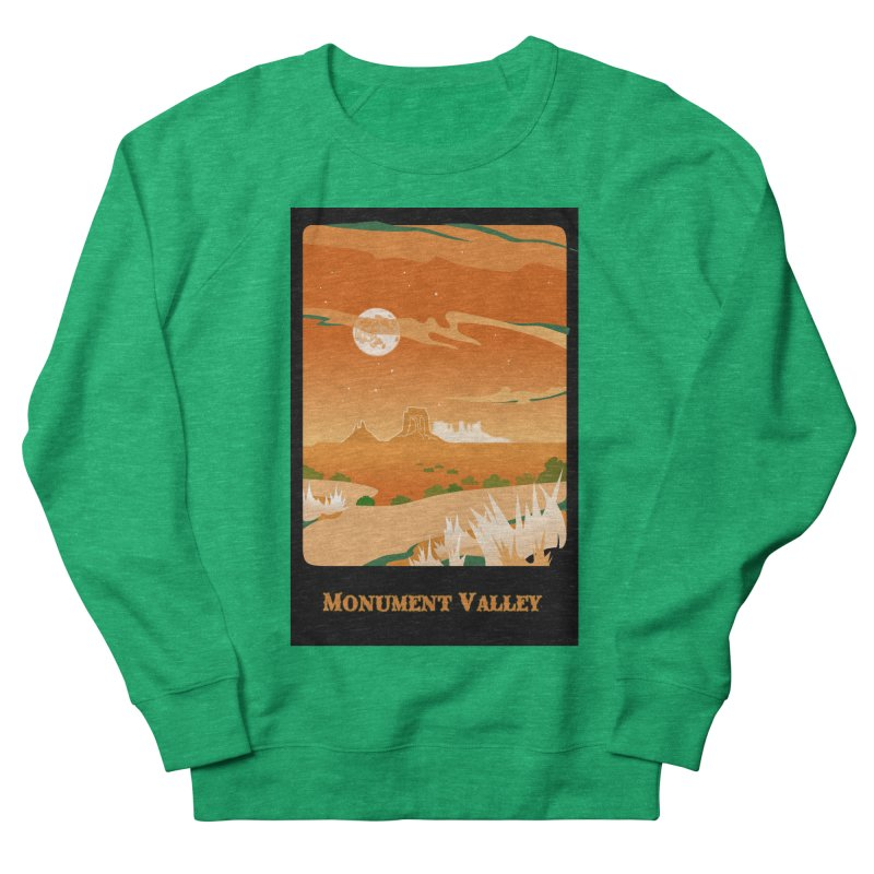Monument Moon Men's French Terry Sweatshirt by Patricia Howitt's Artist Shop