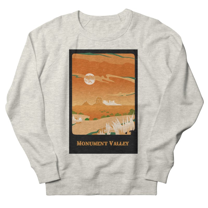 Monument Moon Men's Sweatshirt by Patricia Howitt's Artist Shop