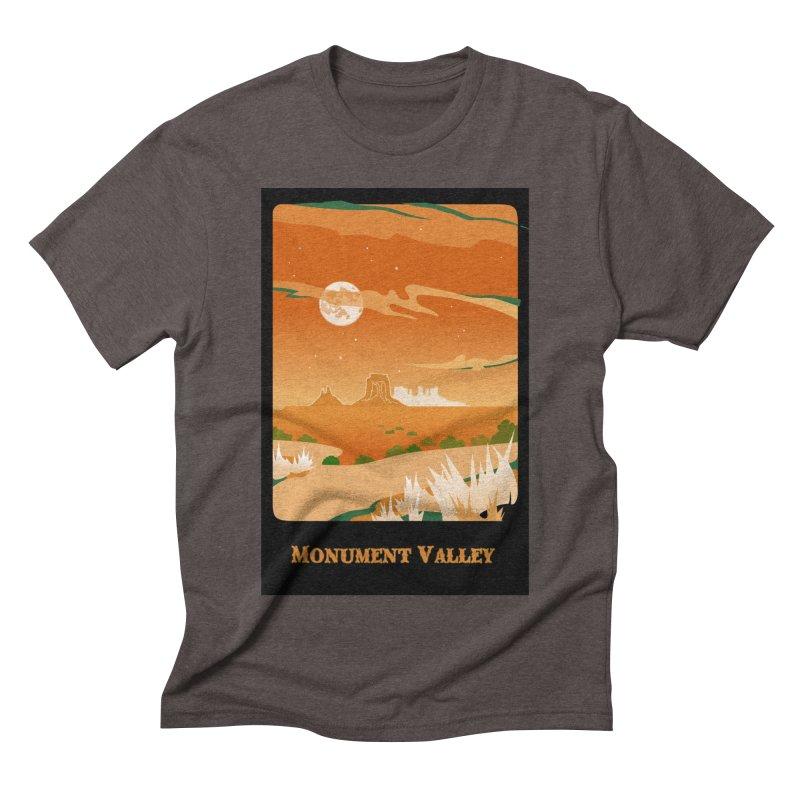 Monument Moon Men's Triblend T-Shirt by Patricia Howitt's Artist Shop