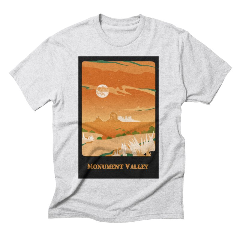 Monument Moon Men's Triblend T-Shirt by Patricia Howitt's Artist Shop