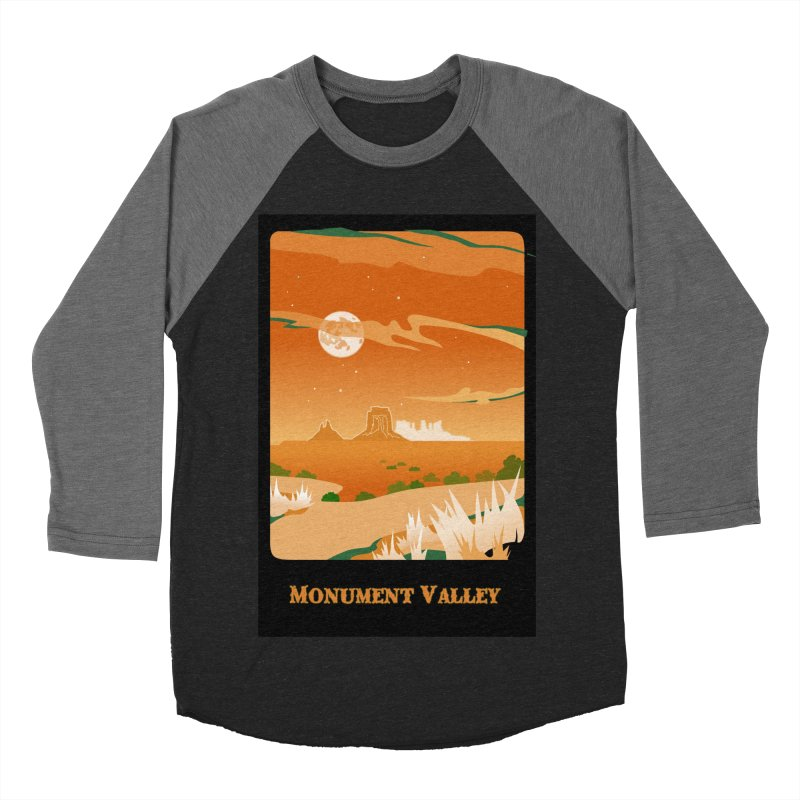 Monument Moon Men's Baseball Triblend T-Shirt by Patricia Howitt's Artist Shop