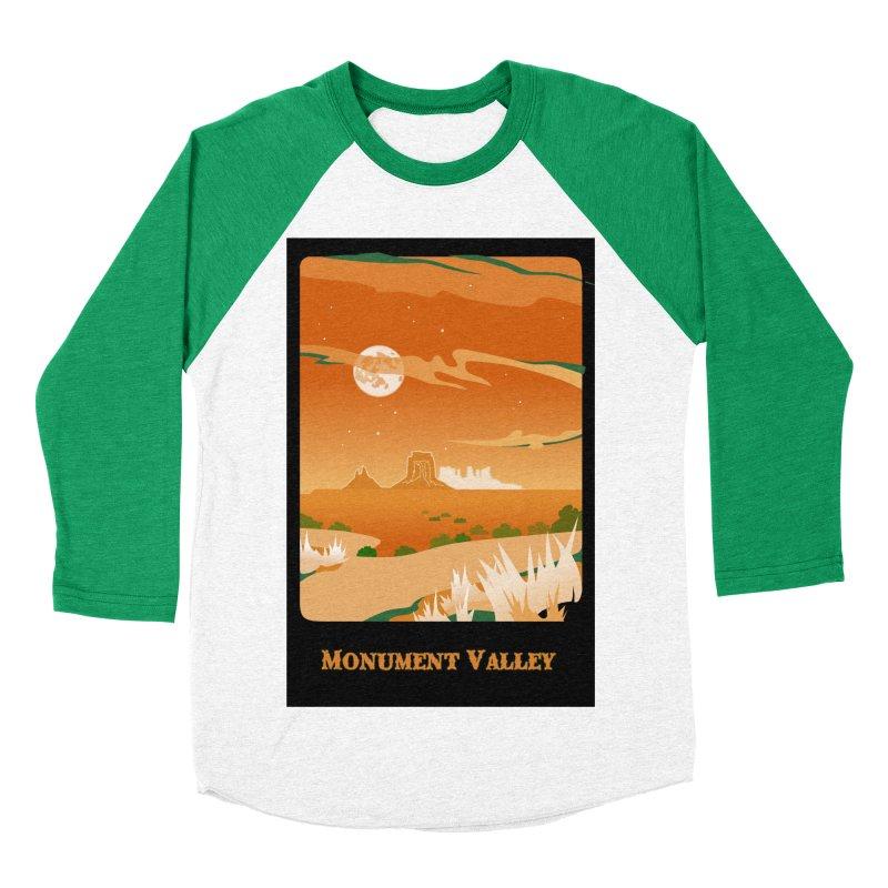 Monument Moon Men's Baseball Triblend Longsleeve T-Shirt by Patricia Howitt's Artist Shop