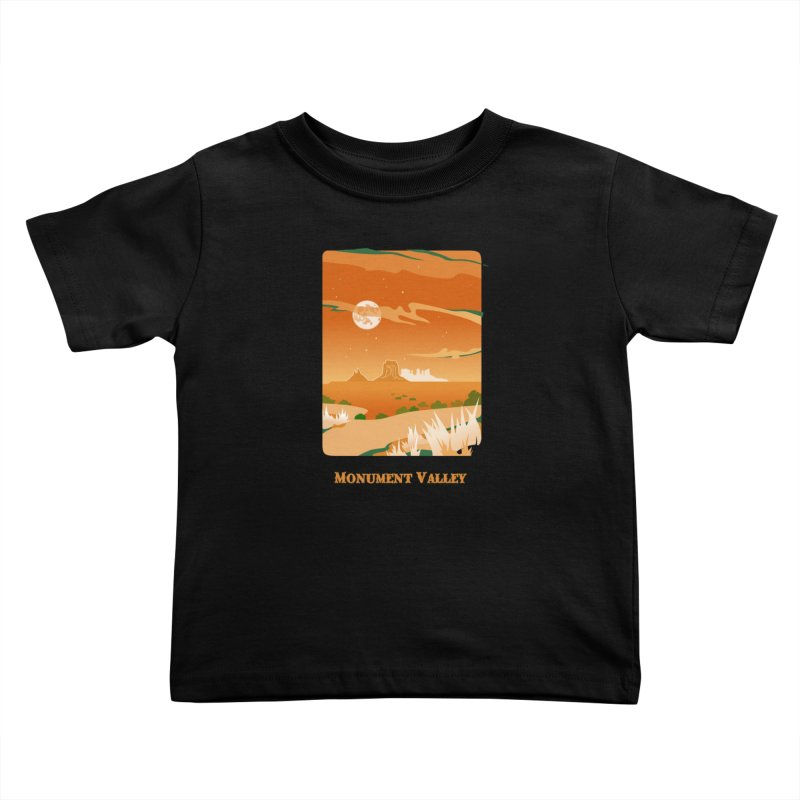 Monument Moon Kids Toddler T-Shirt by Patricia Howitt's Artist Shop