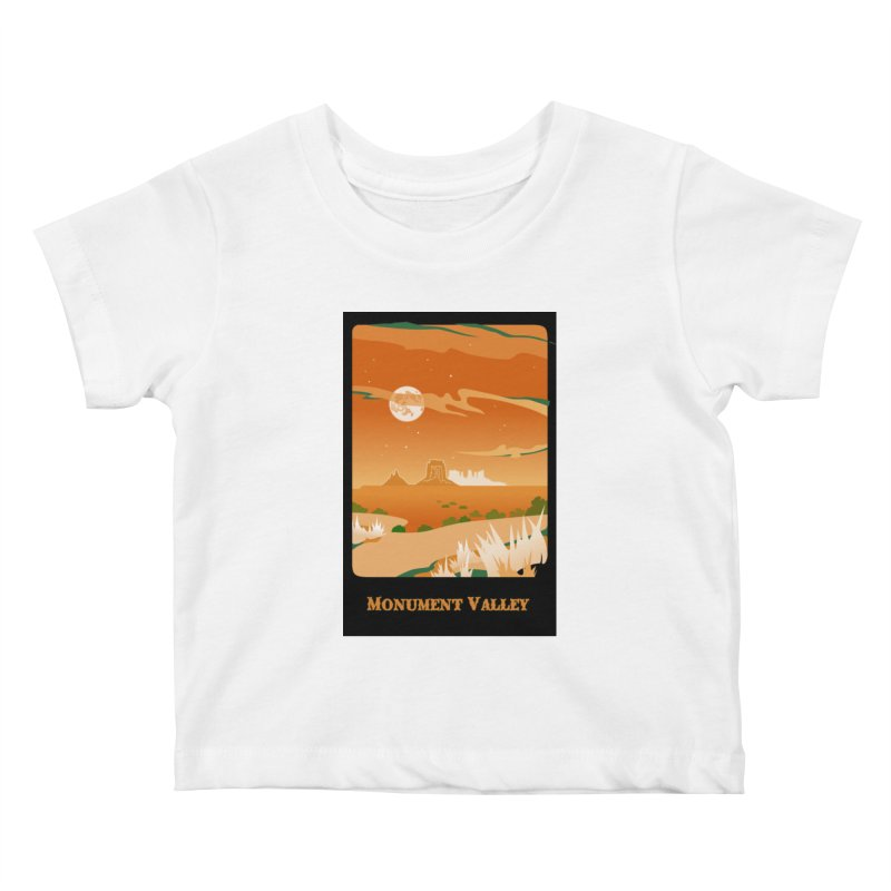 Monument Moon Kids Baby T-Shirt by Patricia Howitt's Artist Shop