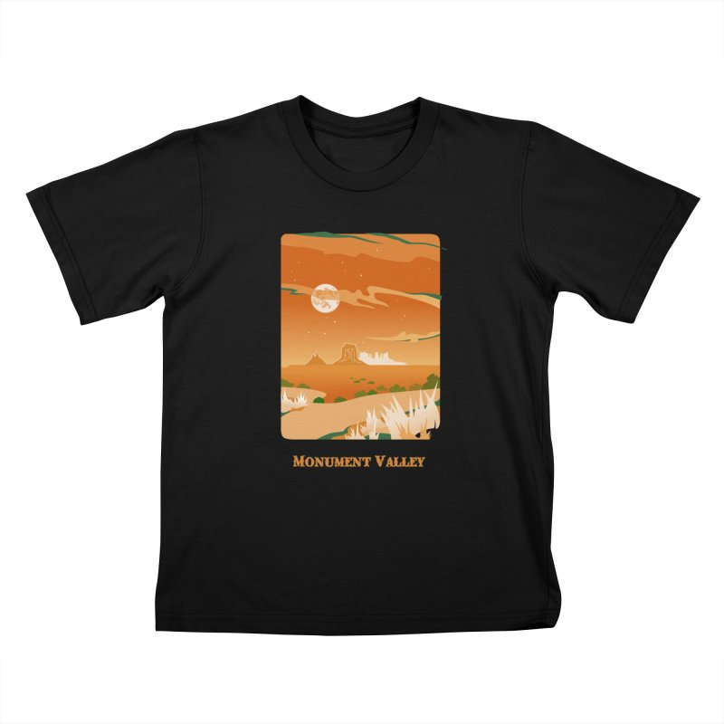 Monument Moon Kids T-shirt by Patricia Howitt's Artist Shop