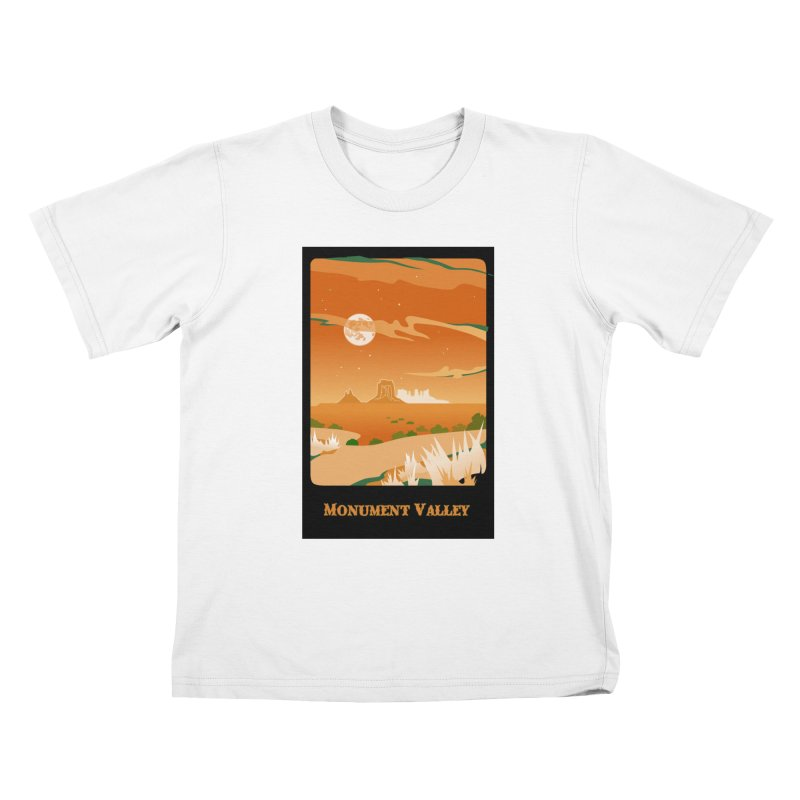 Monument Moon Kids T-Shirt by Patricia Howitt's Artist Shop