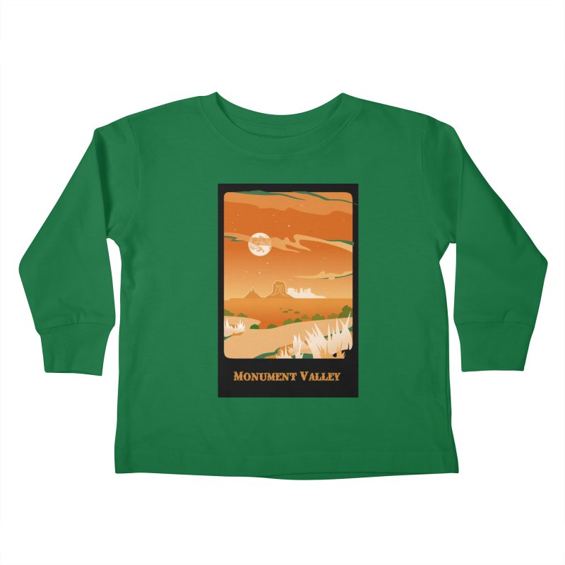 Monument Moon Kids Toddler Longsleeve T-Shirt by Patricia Howitt's Artist Shop