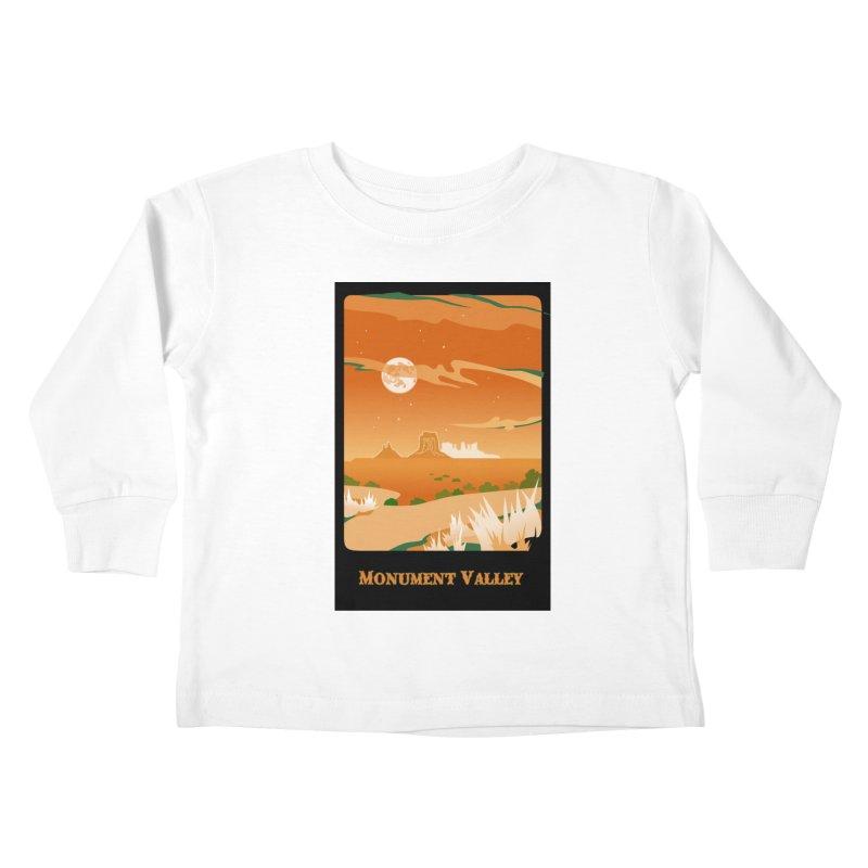 Monument Moon Kids Toddler Longsleeve T-Shirt by Patricia Howitt's Artist Shop
