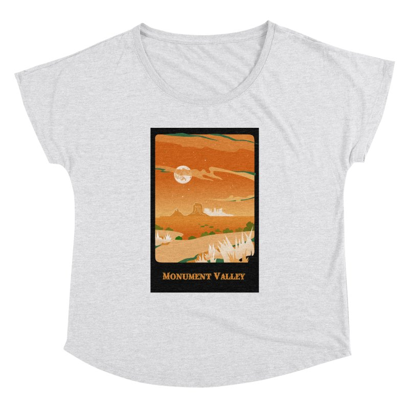Monument Moon Women's Dolman Scoop Neck by Patricia Howitt's Artist Shop