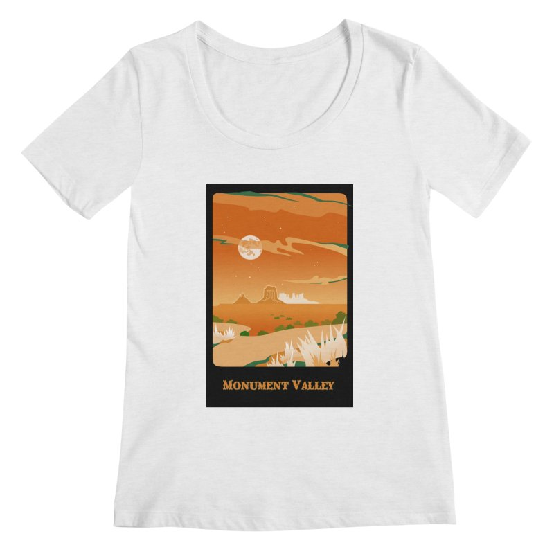 Monument Moon Women's Regular Scoop Neck by Patricia Howitt's Artist Shop