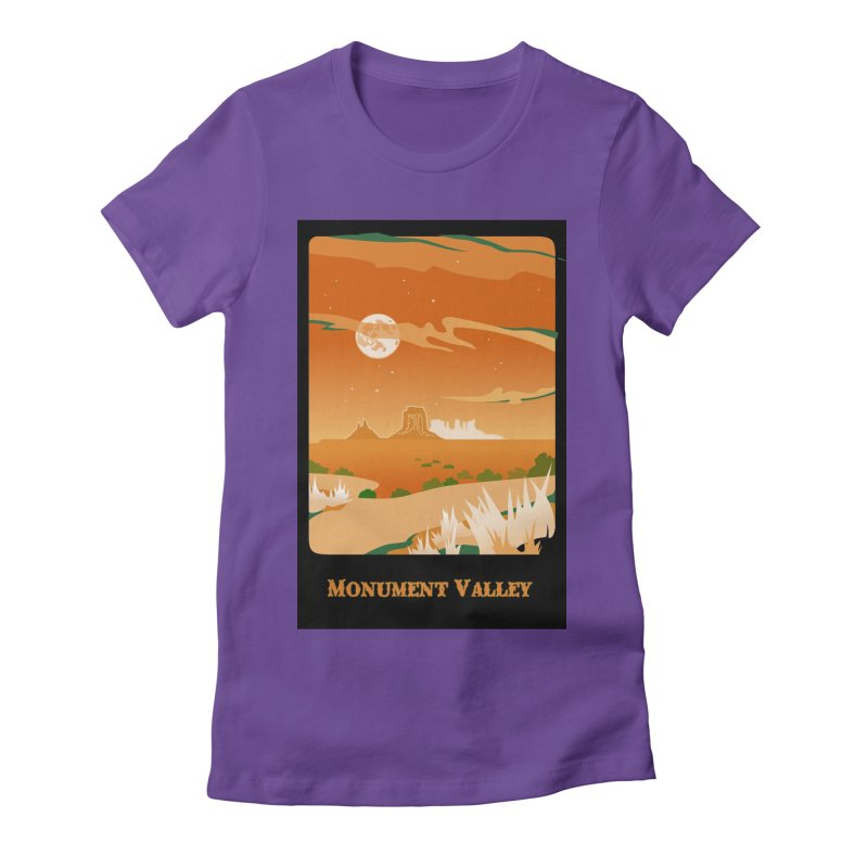 Monument Moon Women's Fitted T-Shirt by Patricia Howitt's Artist Shop