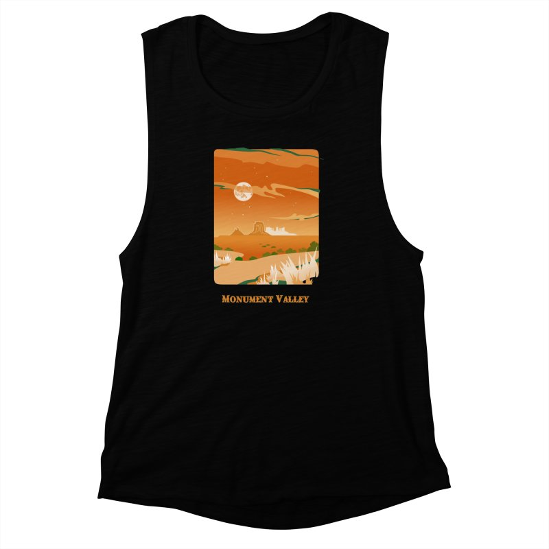 Monument Moon Women's Muscle Tank by Patricia Howitt's Artist Shop