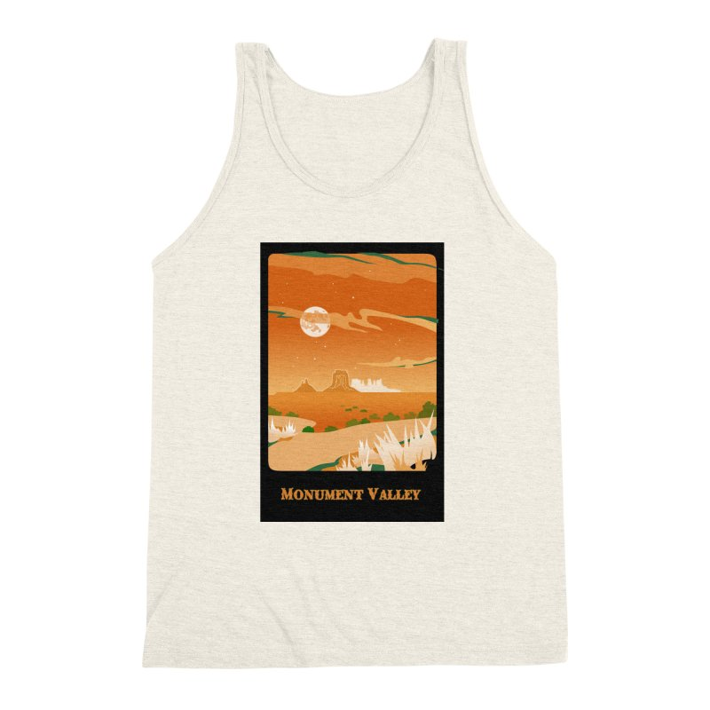 Monument Moon Men's Triblend Tank by Patricia Howitt's Artist Shop