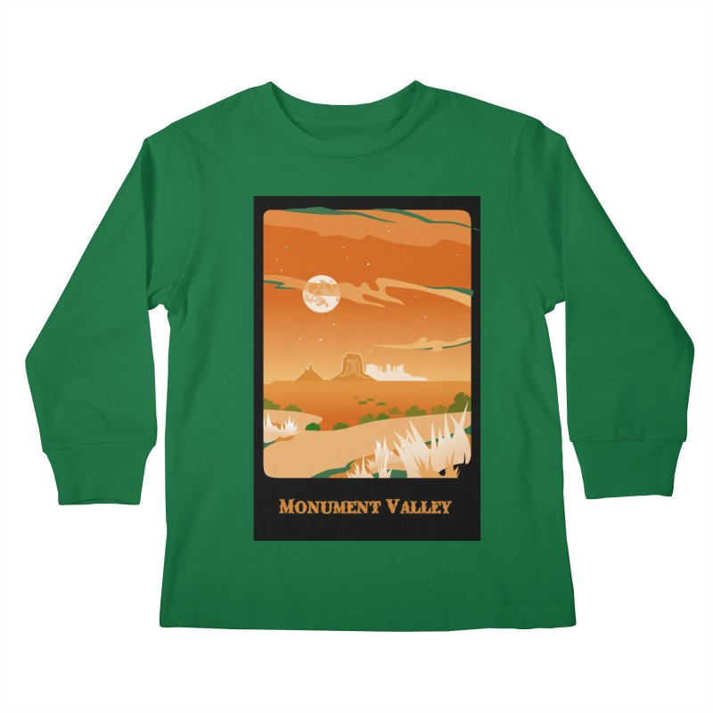 Monument Moon Kids Longsleeve T-Shirt by Patricia Howitt's Artist Shop