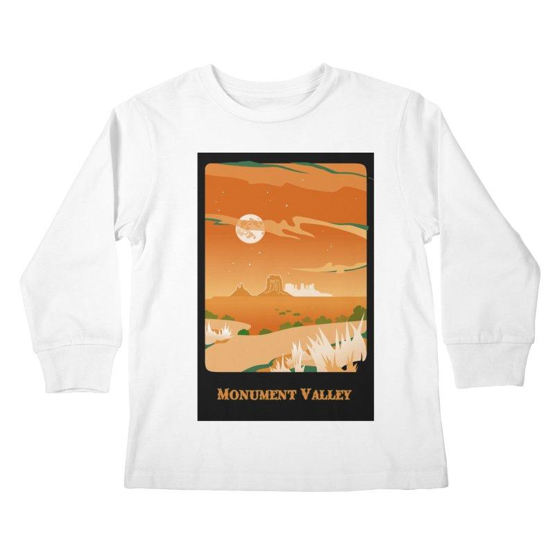 Monument Moon Kids Longsleeve T-Shirt by Patricia Howitt's Artist Shop