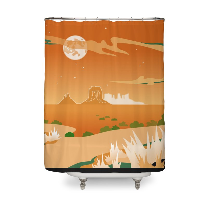 Monument Moon Home Shower Curtain by Patricia Howitt's Artist Shop
