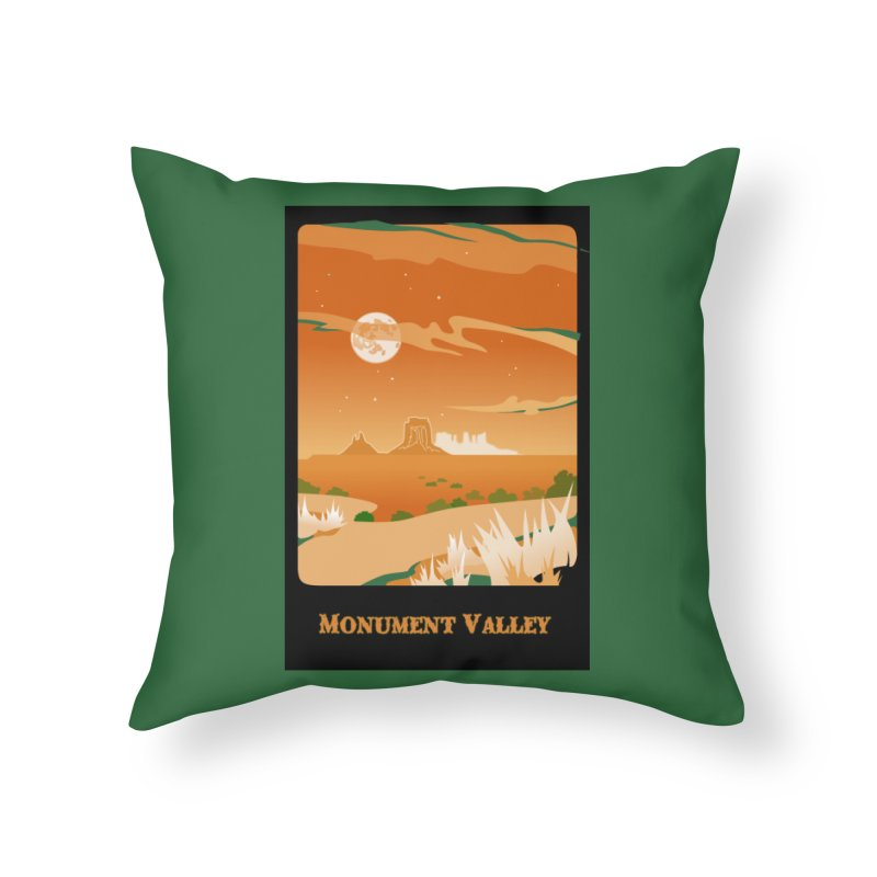 Monument Moon Home Throw Pillow by Patricia Howitt's Artist Shop
