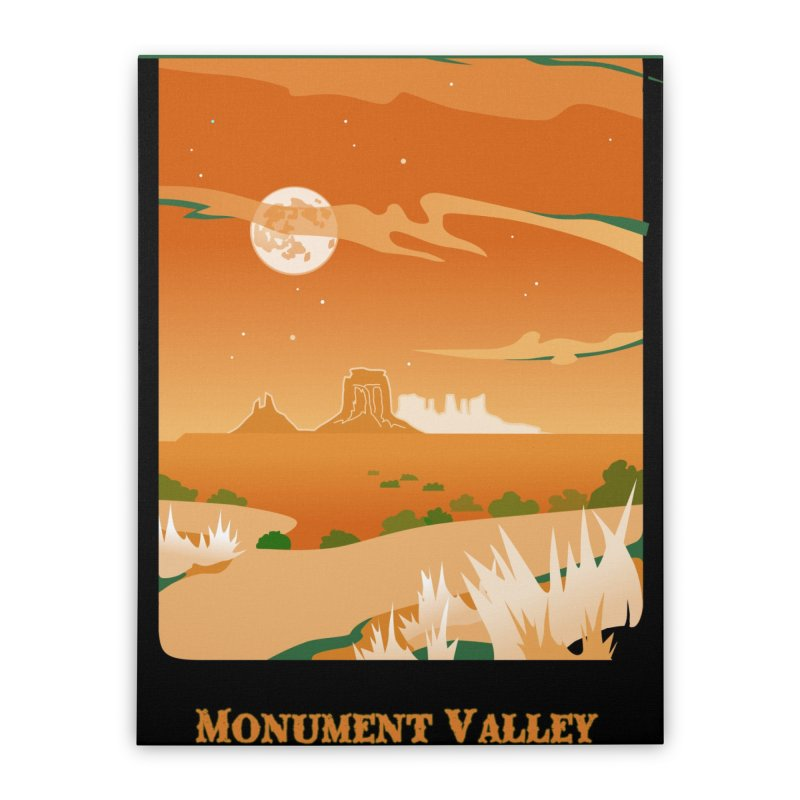 Monument Moon Home Stretched Canvas by Patricia Howitt's Artist Shop