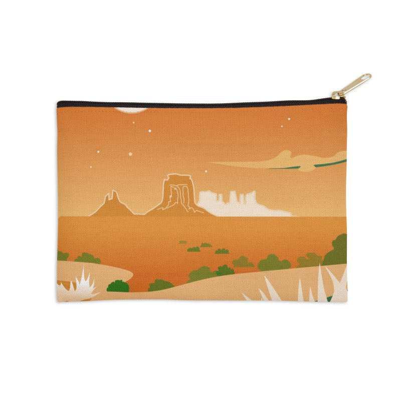Monument Moon Accessories Zip Pouch by Patricia Howitt's Artist Shop