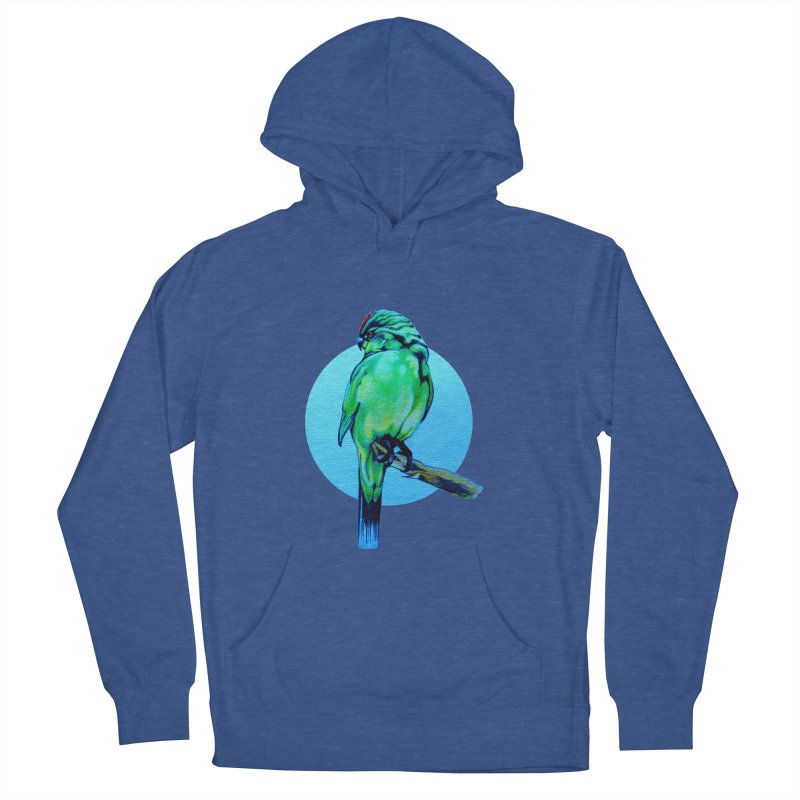 Parakeet - NZ Kakariki Men's French Terry Pullover Hoody by Patricia Howitt's Artist Shop