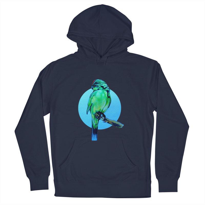 Parakeet - NZ Kakariki Men's Pullover Hoody by Patricia Howitt's Artist Shop