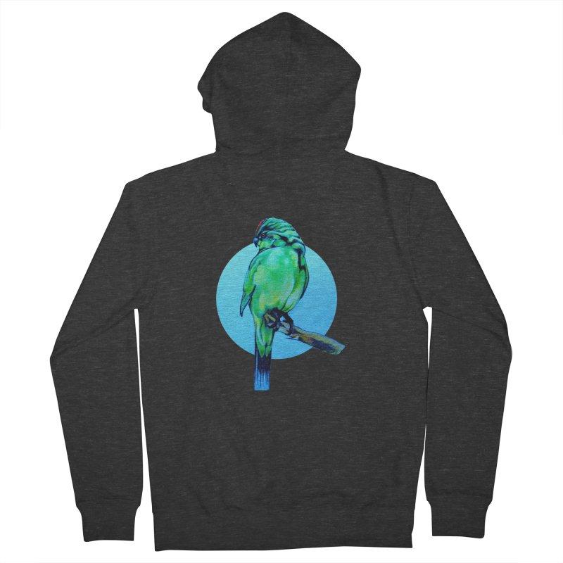 Parakeet - NZ Kakariki Women's Zip-Up Hoody by Patricia Howitt's Artist Shop