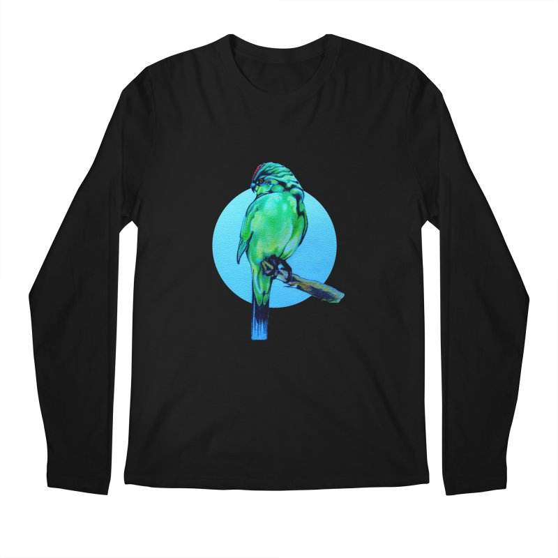 Parakeet - NZ Kakariki Men's Longsleeve T-Shirt by Patricia Howitt's Artist Shop