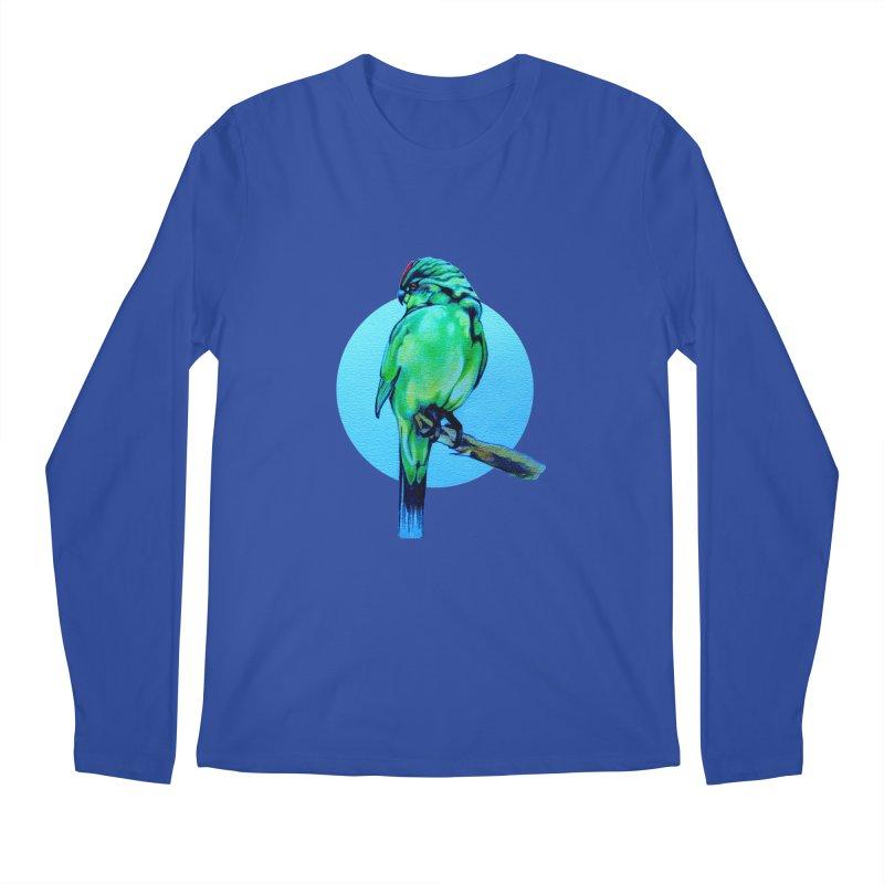 Parakeet - NZ Kakariki Men's Regular Longsleeve T-Shirt by Patricia Howitt's Artist Shop