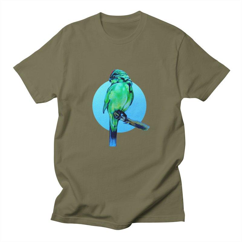 Parakeet - NZ Kakariki Men's T-Shirt by Patricia Howitt's Artist Shop