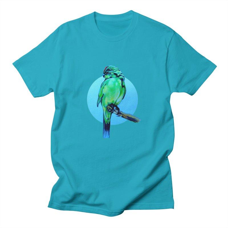 Parakeet - NZ Kakariki Women's Regular Unisex T-Shirt by Patricia Howitt's Artist Shop