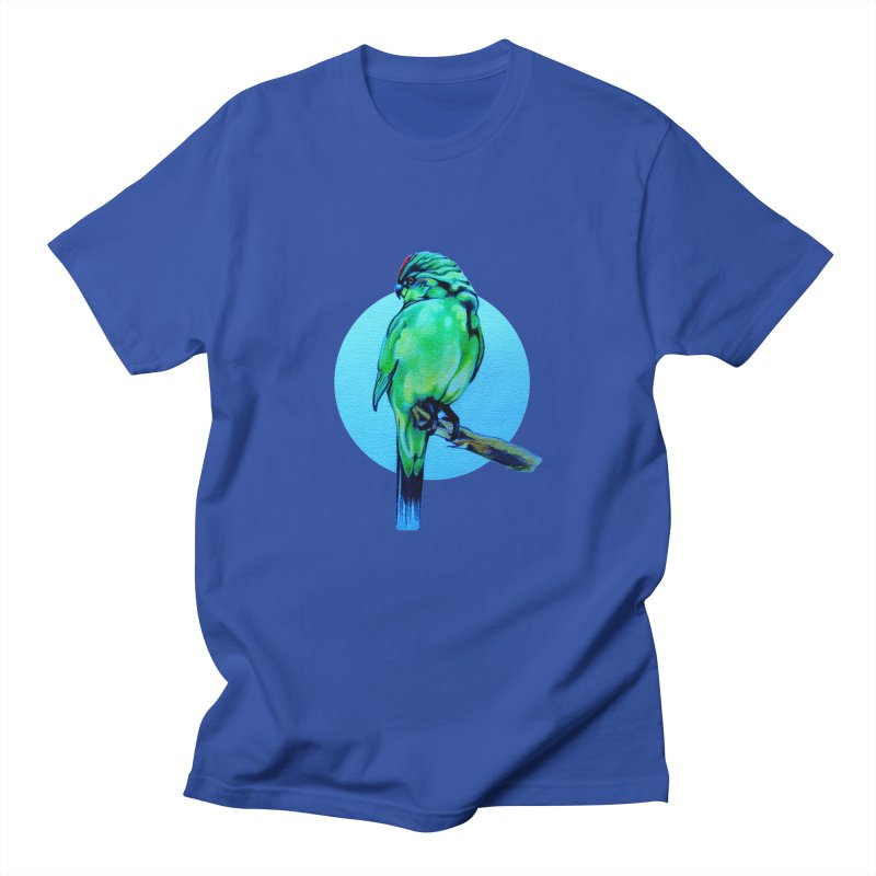Parakeet - NZ Kakariki Men's T-shirt by Patricia Howitt's Artist Shop