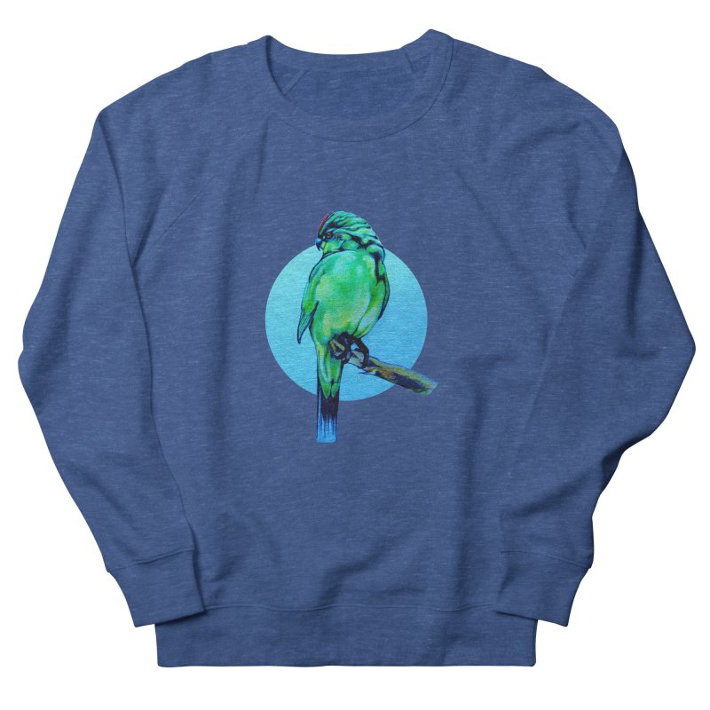 Parakeet - NZ Kakariki Women's Sweatshirt by Patricia Howitt's Artist Shop